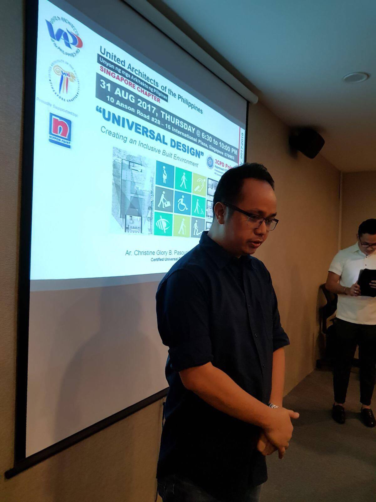 09.19.17 | UAP Singapore Chapter's Universal Design - Creating an Inclusive Built Environment