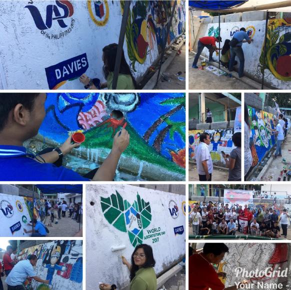 10.02.17 | UAP Legazpi Chapter holds mural painting event on WAD celebration