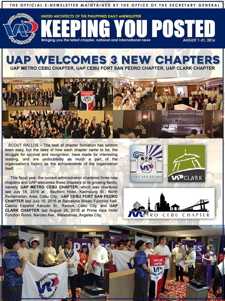 UAP Keeping You Posted - August 2016 (Part 2) Issue