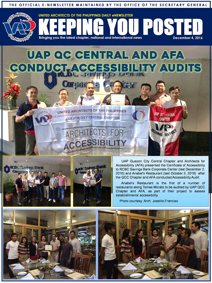 UAP Keeping You Posted - December 2016 (Part 1) Issue