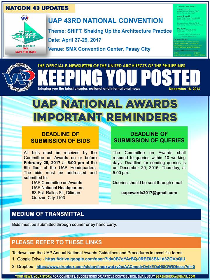 UAP Keeping You Posted - December 2016 (Part 4) Issue