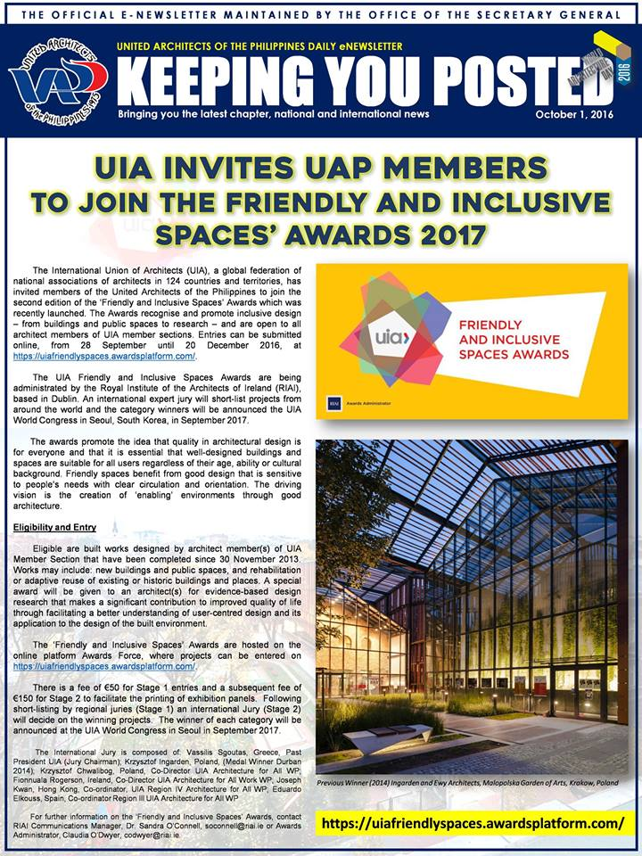UAP Keeping You Posted - October 2016 (Part 1) Issue