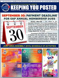 UAP Keeping You Posted - September 2016 (Part 2) Issue